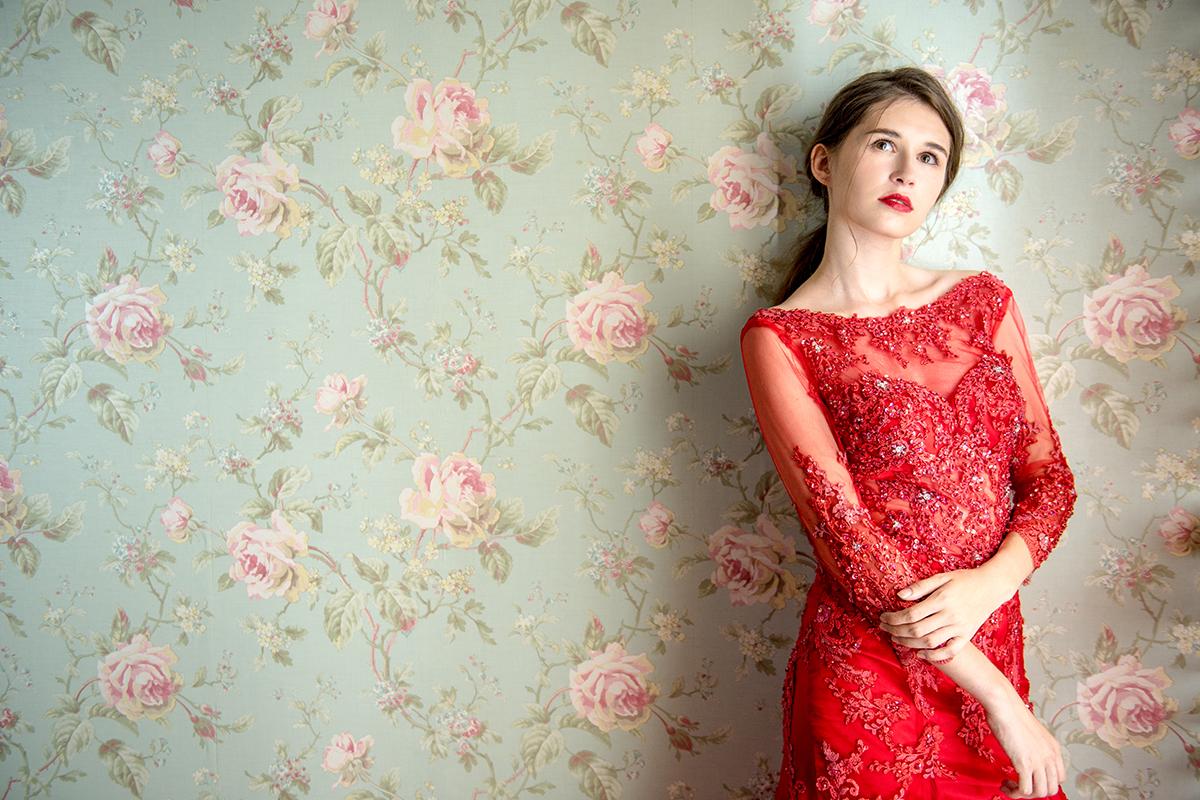 AMOR,愛情來了,禮服,莫兒,時尚,華麗,晚禮服,新娘子,手工,國外進口,蕾絲,細軟紗,仙女