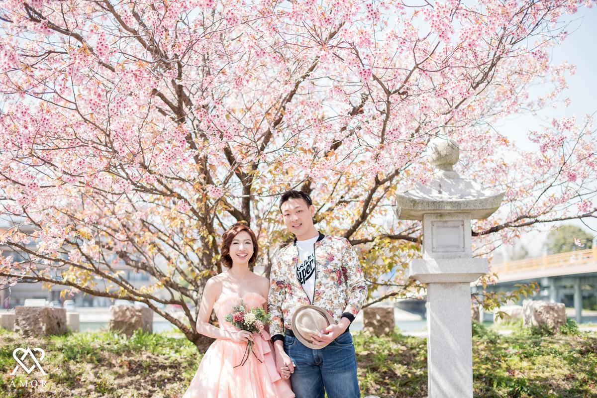 京都,婚紗,回憶,拍婚紗,櫻花,紀念,AMOR,愛情來了,日本,海外婚紗,清水寺,鴨川
